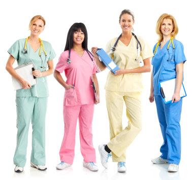 medical staff wearing stethoscope
